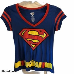 Superman Boys Shirt Halloween Costume Party